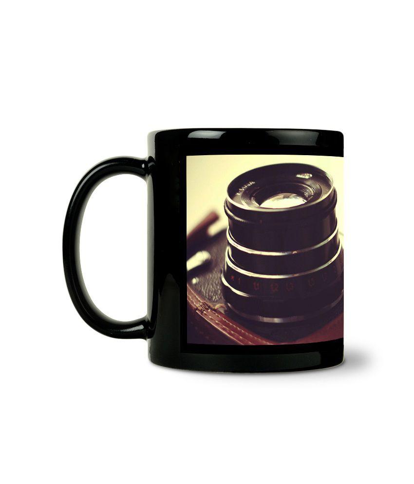 Bluegape Camera Lens Black Mug Buy Online At Best Price