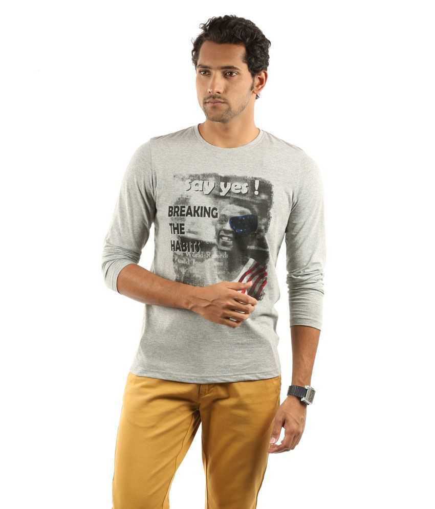 CLST (IN THE CLOSET) Gray  Organic ROUND NECK T-SHIRT