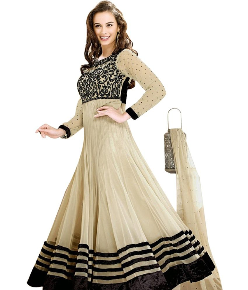 c8d696ee3c3 SLC Black and Beige Chiffon Dress Material - Buy SLC Black and Beige  Chiffon Dress Material Online at Best Prices in India on Snapdeal
