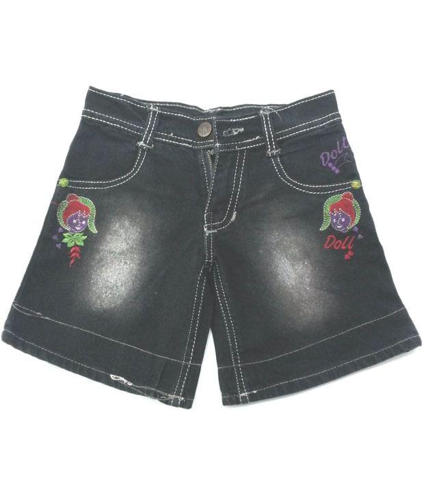 4s Denim Black Shorts