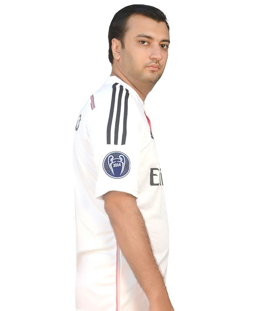 Adidas White Polyester Original Ronaldo 7 Real Madrid Jersey - Buy ... 86edc2b1c
