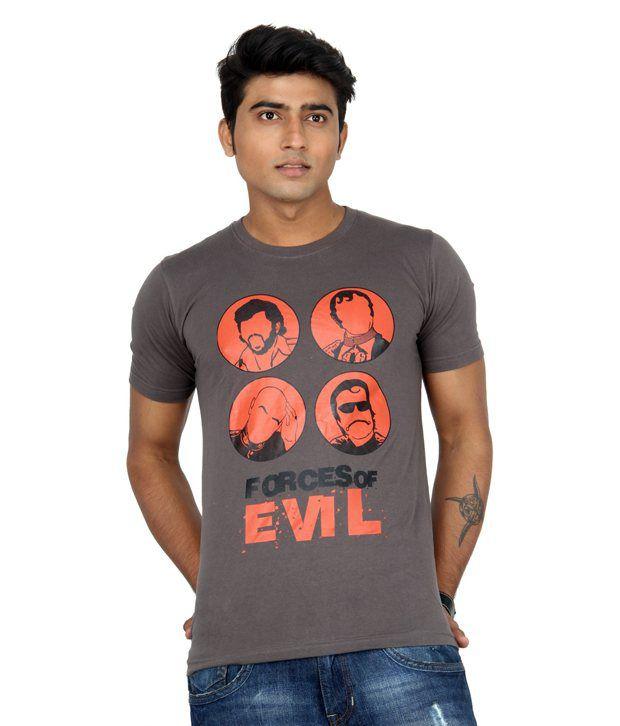 Bandarwalla Forces Of Evil Dark Grey T-shirt