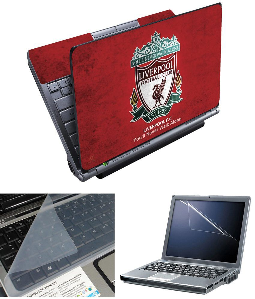 Liverpool Fc Bedroom Accessories Finearts Full Panel Textured Laptop Skin Liverpool Red Printed