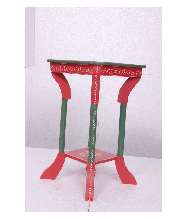 Kings Kraft Red Painted Wooden Pedestal