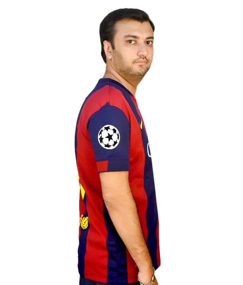 the best attitude 6e1eb e0f7f Nike Blue Polyester Original Messi 10 Barcelona Jersey - Buy ...