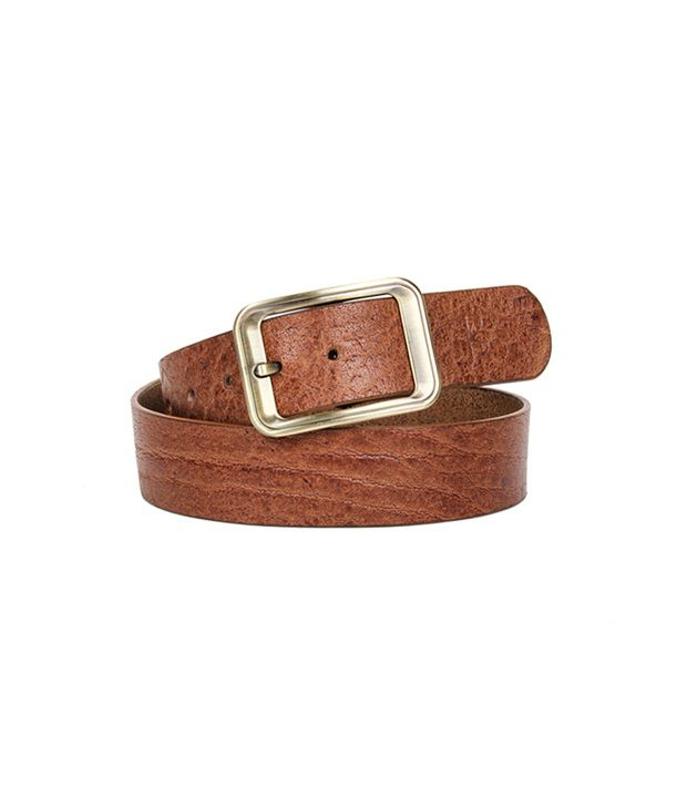 Kosher Tan Leather Casual Belt For Men