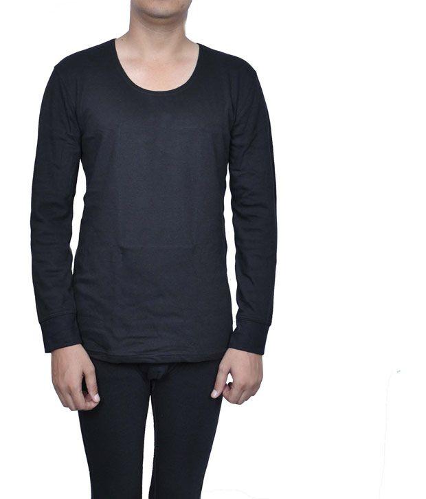 Jockey black full sleeve premium thermal vest buy jockey for Jockey full sleeve t shirts india