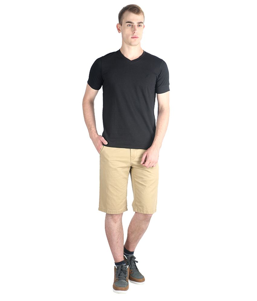 Proline Colours Black Cotton Blend T-shirt