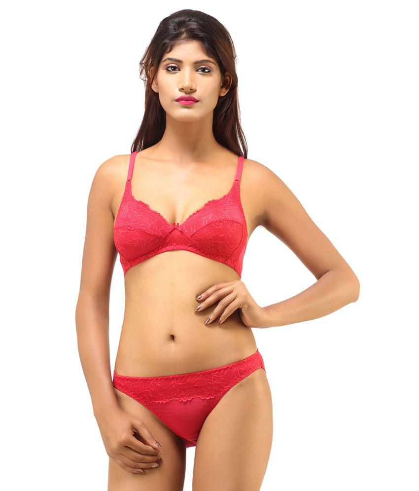 DesiHarem Multi Color Cotton Bra   Panty Sets Pack ... 19b8fd47d
