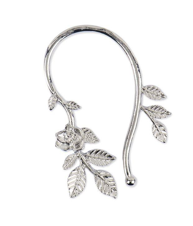 Fayon Weekend Casual Silver Vintage Silver U Shape Leave Earcuff