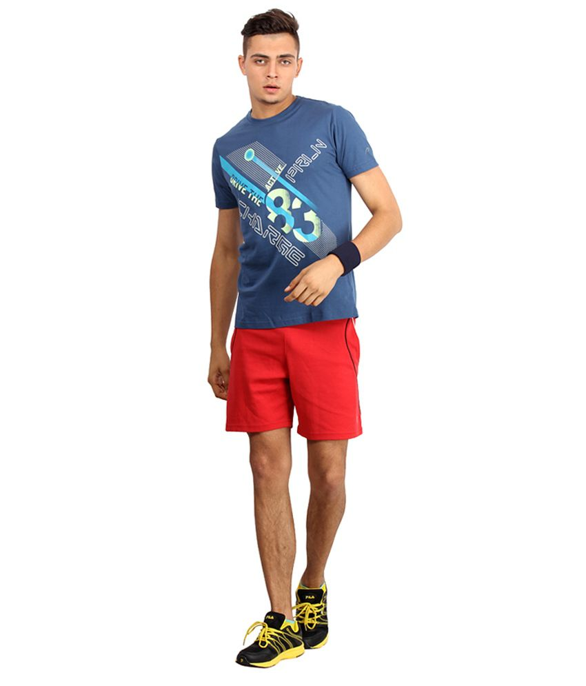 Proline Active Blue Cotton T-shirt