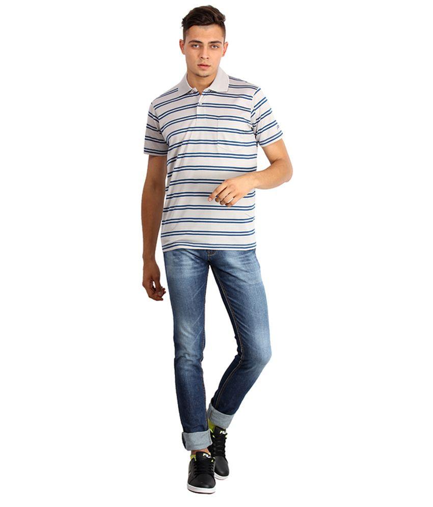 Proline Colours Gray Polo T-shirt