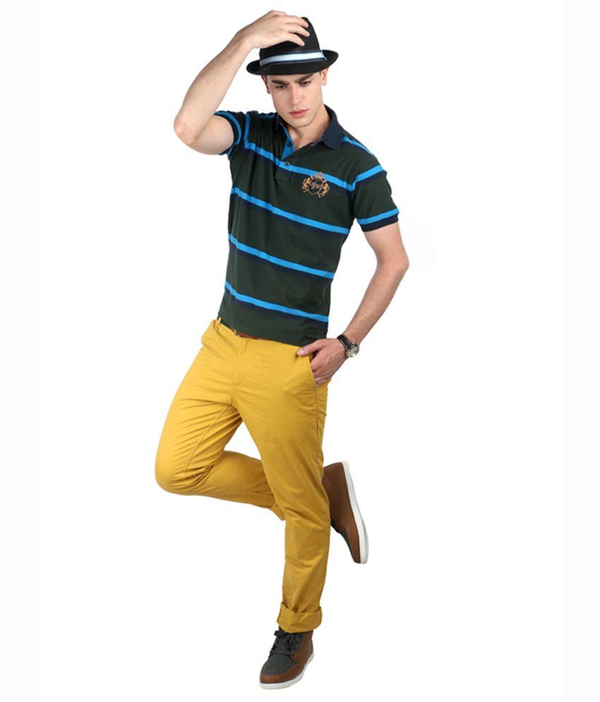 Proline Varsity Green Polo T-shirt