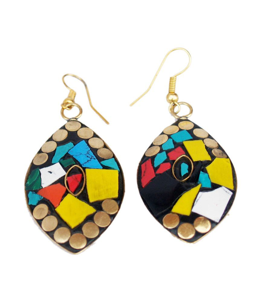 Vr Designers Trendy Ethnic Multicolor Earrings