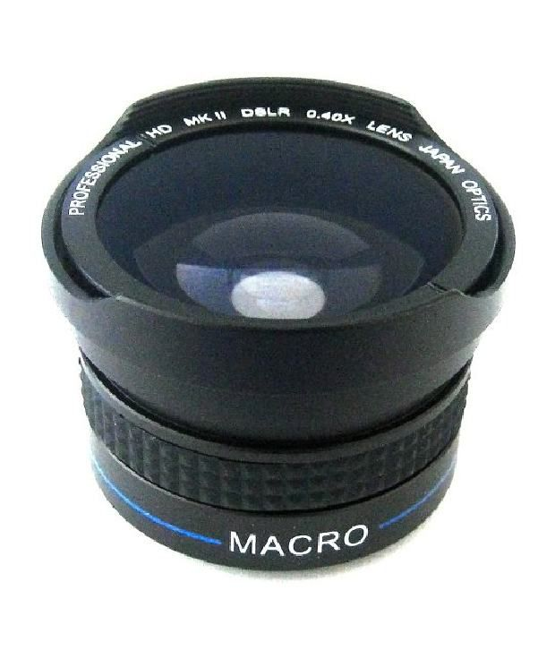 Zeikos Ze-3437f 37mm 0.40x High Definition Fisheye Lens With Macro Attachment, Includes Lens Pouch And Cap Covers