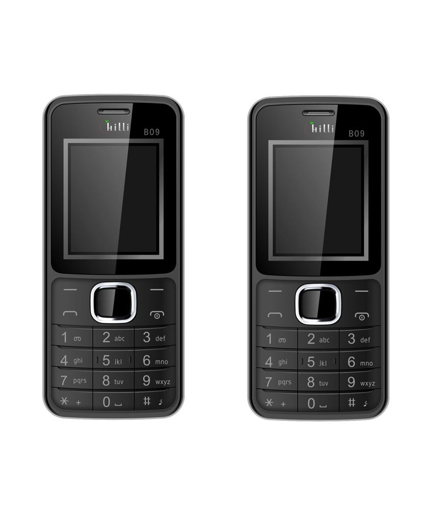 Chilli B09 Mobile Phone Black ( Buy 1 and Get 1 Free)