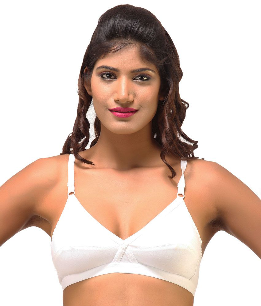 40f43bfe8 Buy Desiharem White Non-wired Bra Online at Best Prices in India - Snapdeal