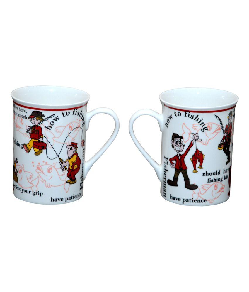 Pearl Cartoon Tea & Coffee Mug - Set Of 2 Mugs