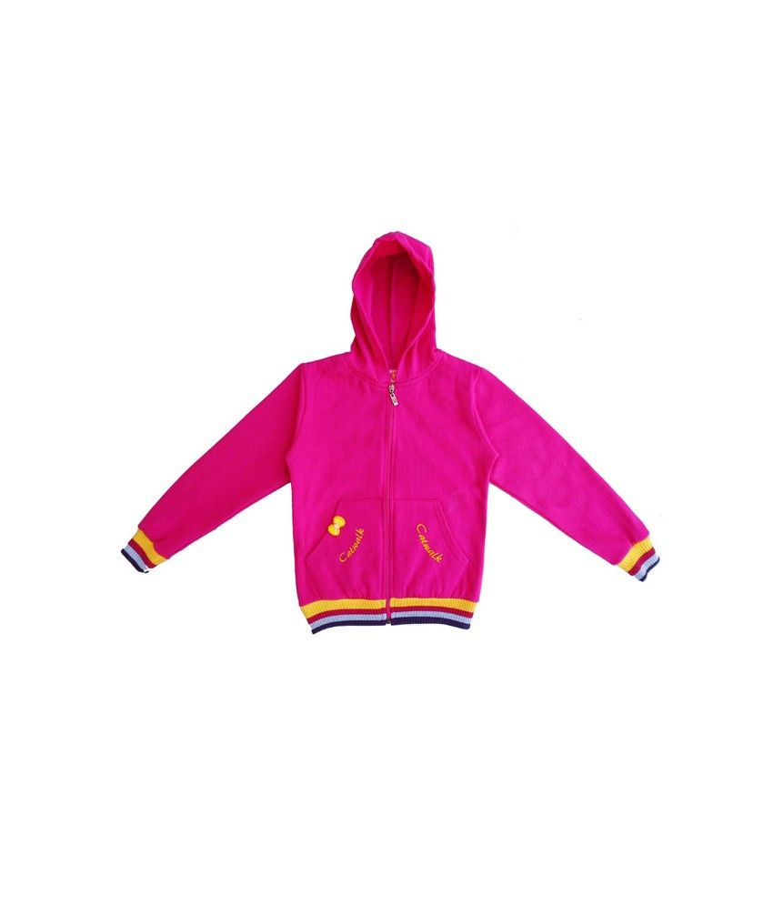 Sweet Angel Full Sleeves Pink Color Hooded Sweat Shirts For Kids