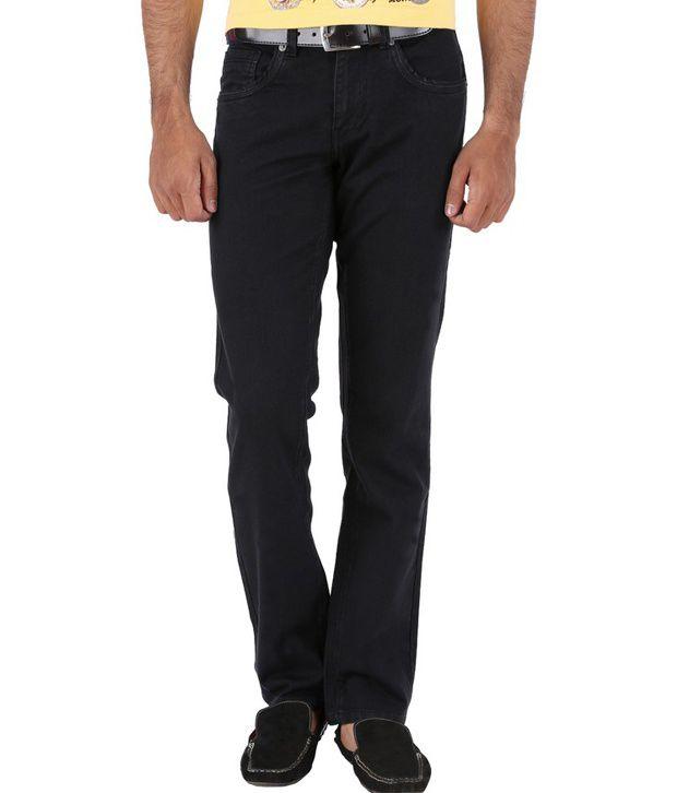 Trigger Black Cotton Jeans