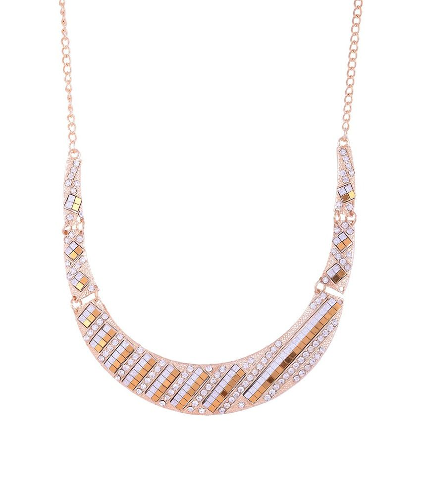 Valarie Gold With Diamond Finish Necklace For Women