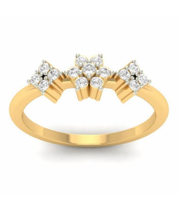 Kuberbox 14k Gold Diamond Flamboyant Ring