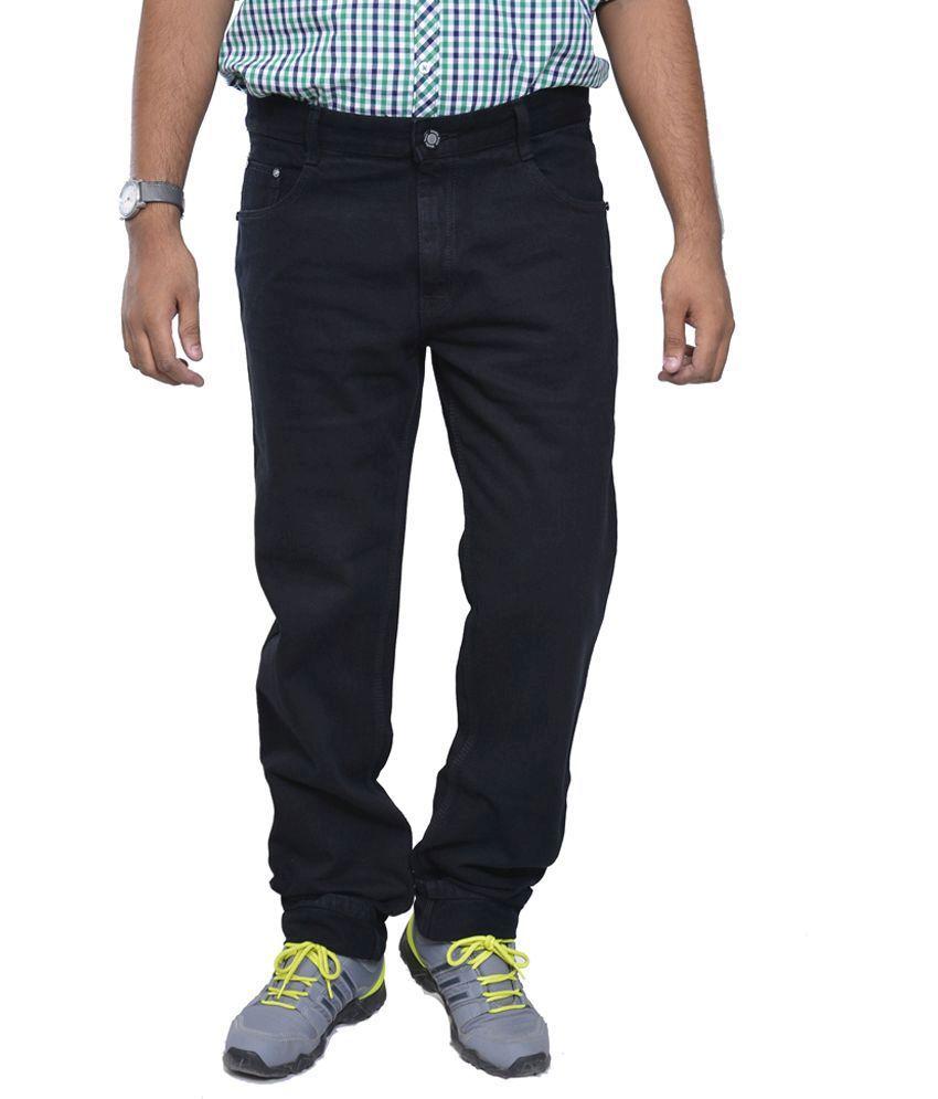 Studio Nexx Black Cotton Regular Fit Men's Jeans