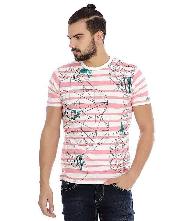 Basics Pink Cotton Blend T-shirt