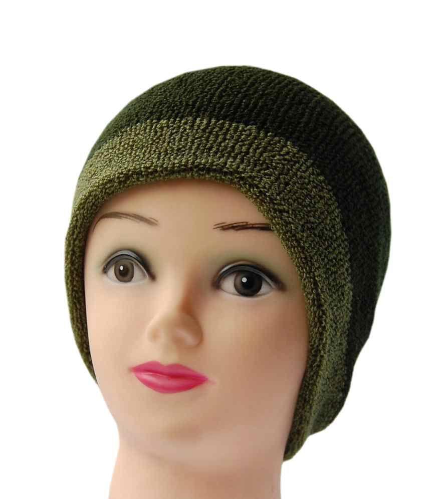 Ellis Reversible Woollen Cap-green