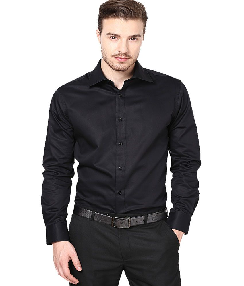 Lee Marc Black Shirt - Buy Lee Marc Black Shirt Online at Best ...