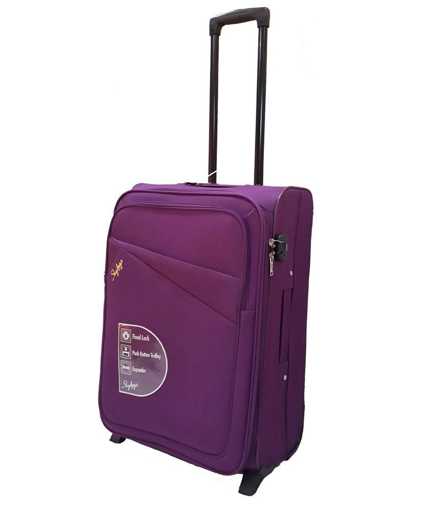 Skybags Purple 2 Wheel  Soft Trolley-Size Medium (61Cm-69Cm)