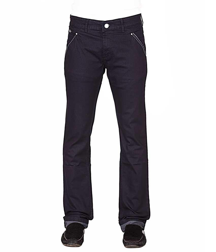 Streetguys Blue Cotton Blend Basics Denim Jeans For Men