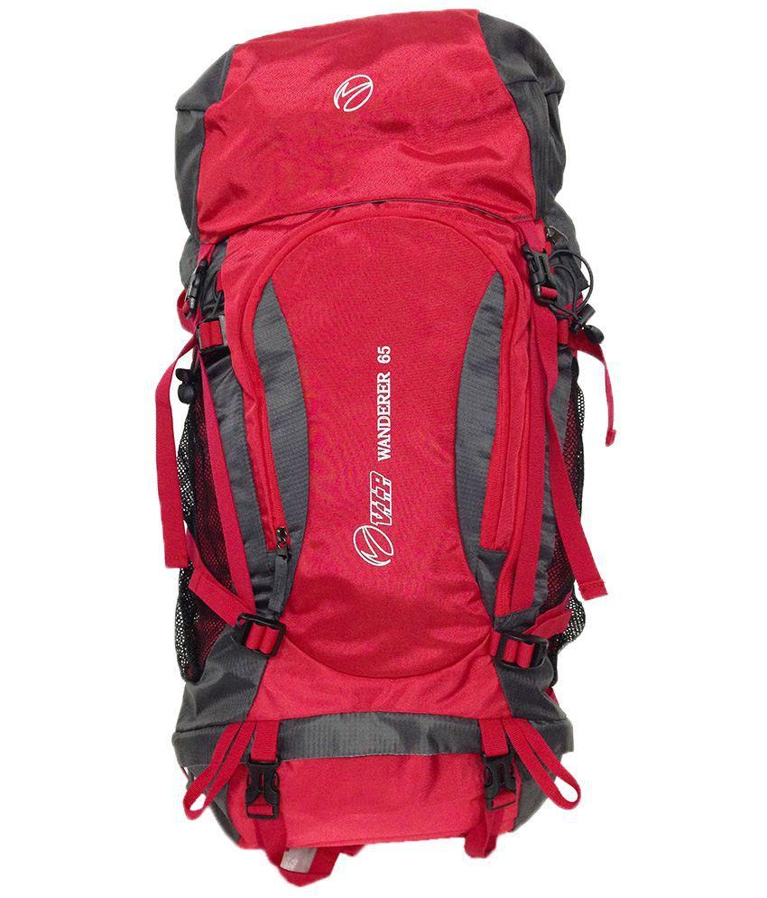 Vip Wanderer Rucksack 65ltrs Red
