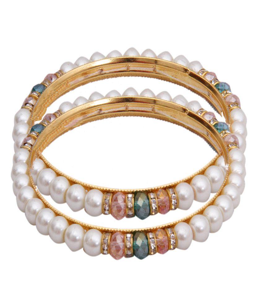 Classique Designer Jewellery Incredible Circle Of Life Pearl Bangles