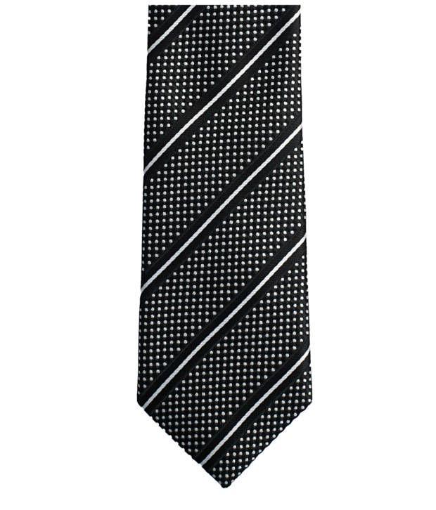 Lino Perros Black Micro Fiber Formal Broad Ties