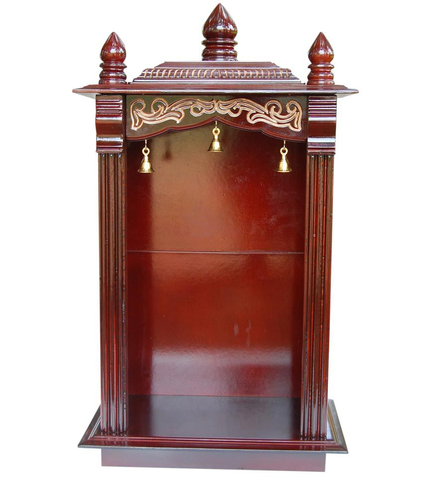 Maxwood Doors And Windows Brown Pooja Cabinet Without Door ...