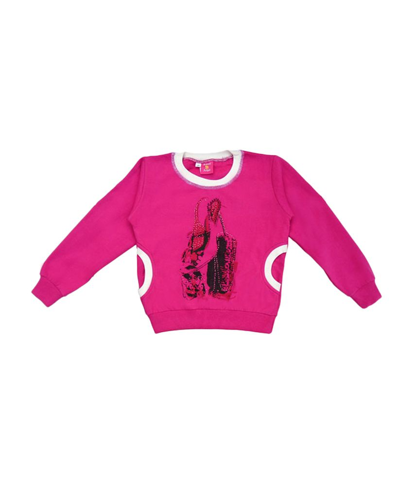 Sweet Angel Full Sleeves Stylish Pink Sweat Shirt