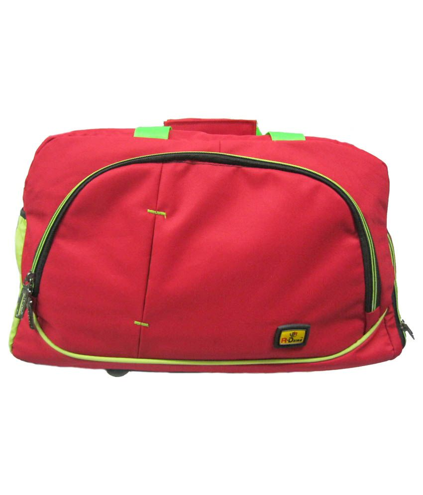 R-dzire Red P.u. Water Resistant Travel Bags