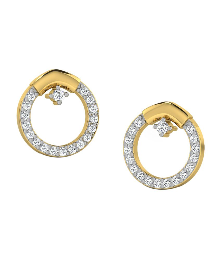 Sparkles 18kt Delightful Stud Earrings