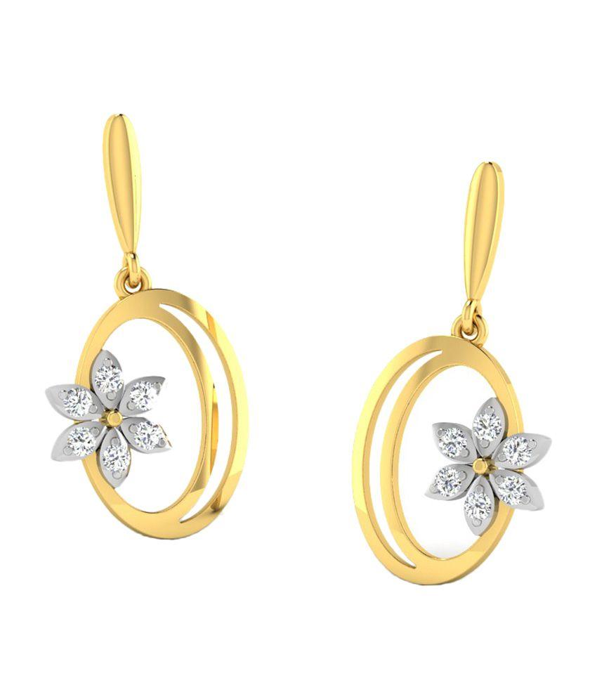 Sparkles 18kt Fashionable Drop Earrings