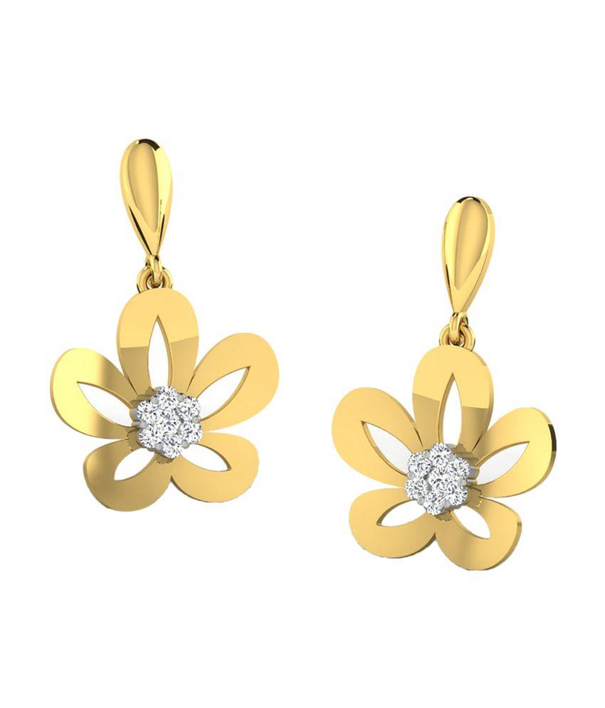 Sparkles 18kt Radiant Drop Earrings