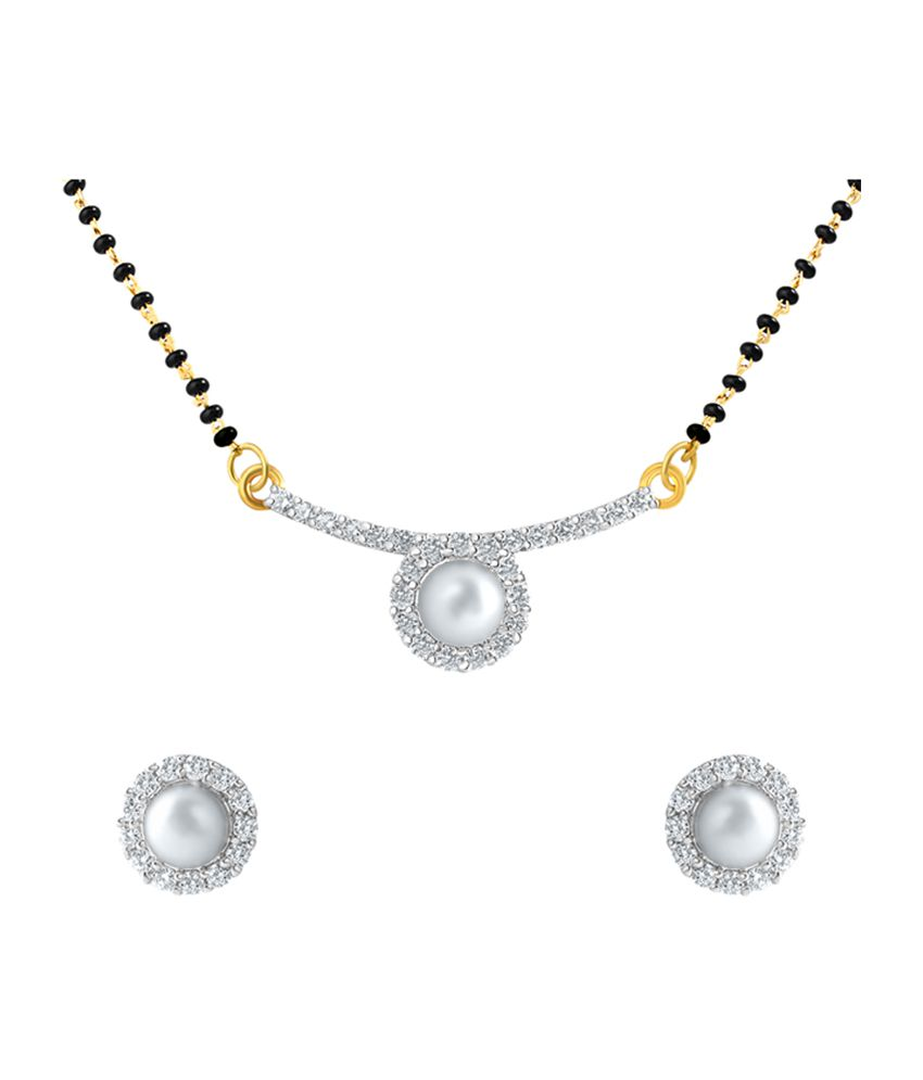 Mahi Gold Plated Pearl Round Mangalsutra Set