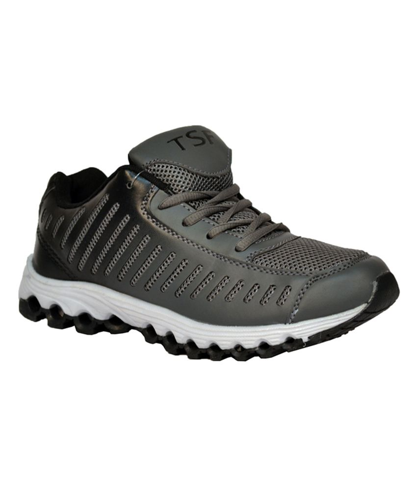 3b902cac404 Tsf Grey And Black Men's Sports Shoe - Buy Tsf Grey And Black Men's Sports  Shoe Online at Best Prices in India on Snapdeal