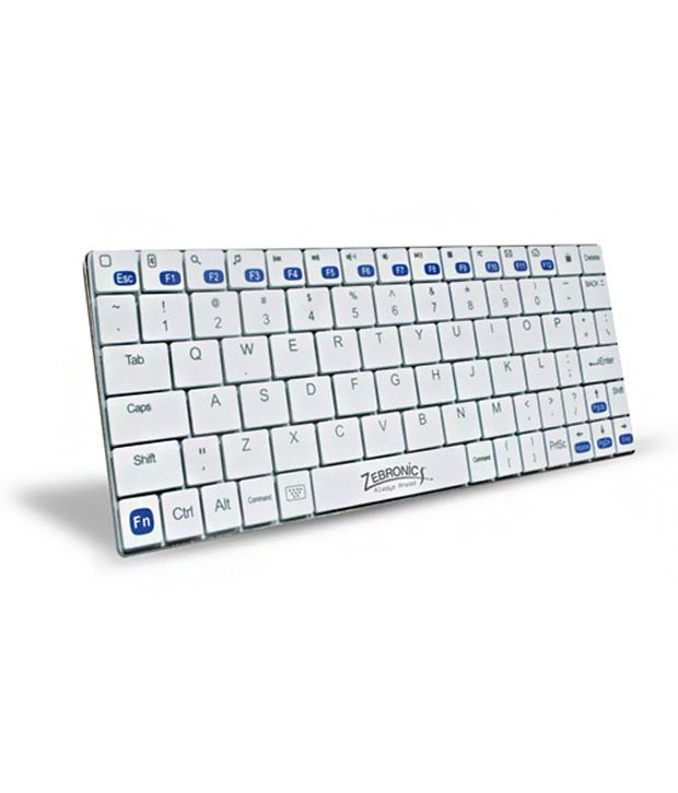 Zebronics Tabmate White Wireless Keyboard