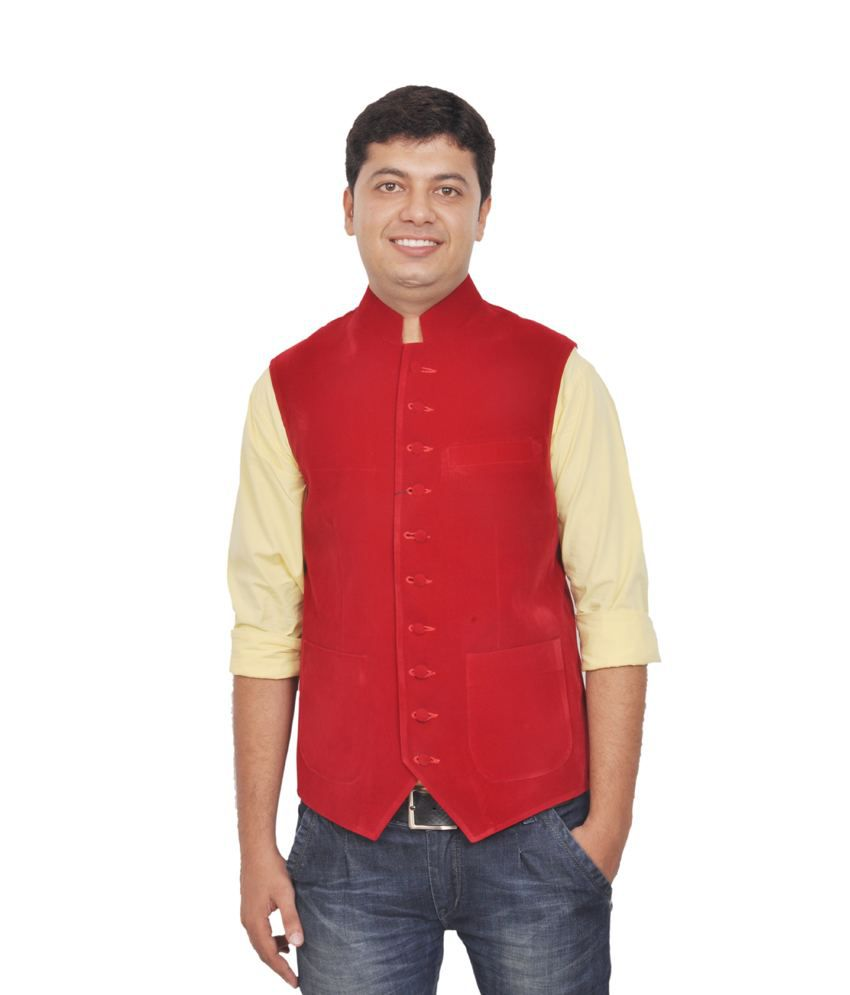 Pinellii David Waistcoat Red