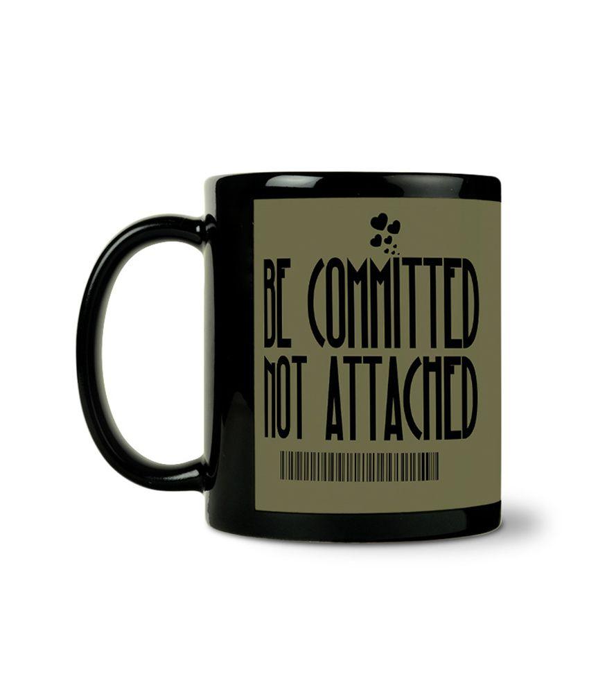 Bluegape Deepanshu Be Committed Not Attachedblack Mug