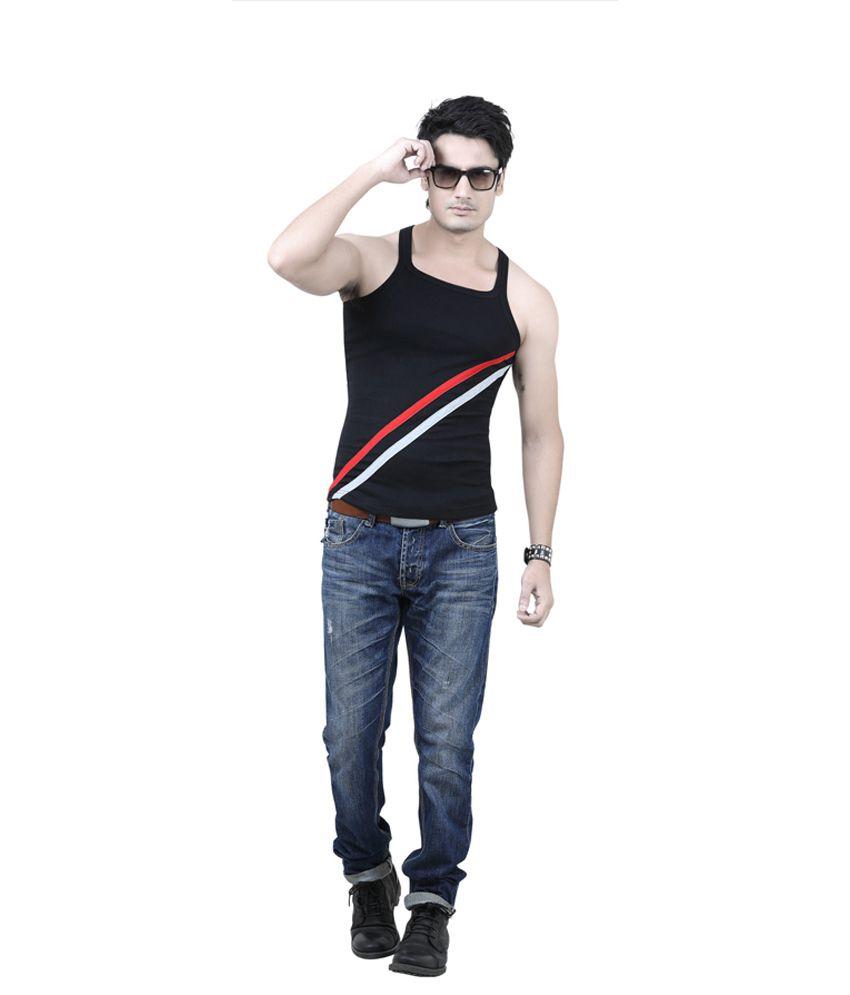 Fashion Fashion Black Cotton Vests