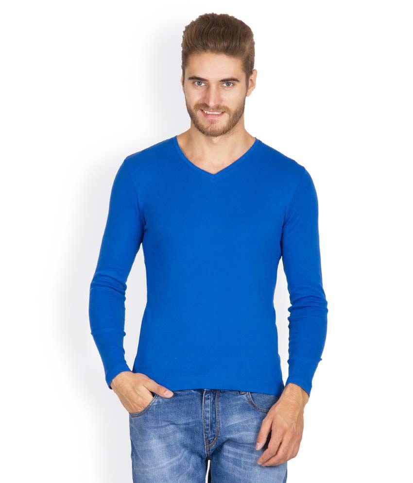 Hues 5002 D Stylish Blue Men T Shirt