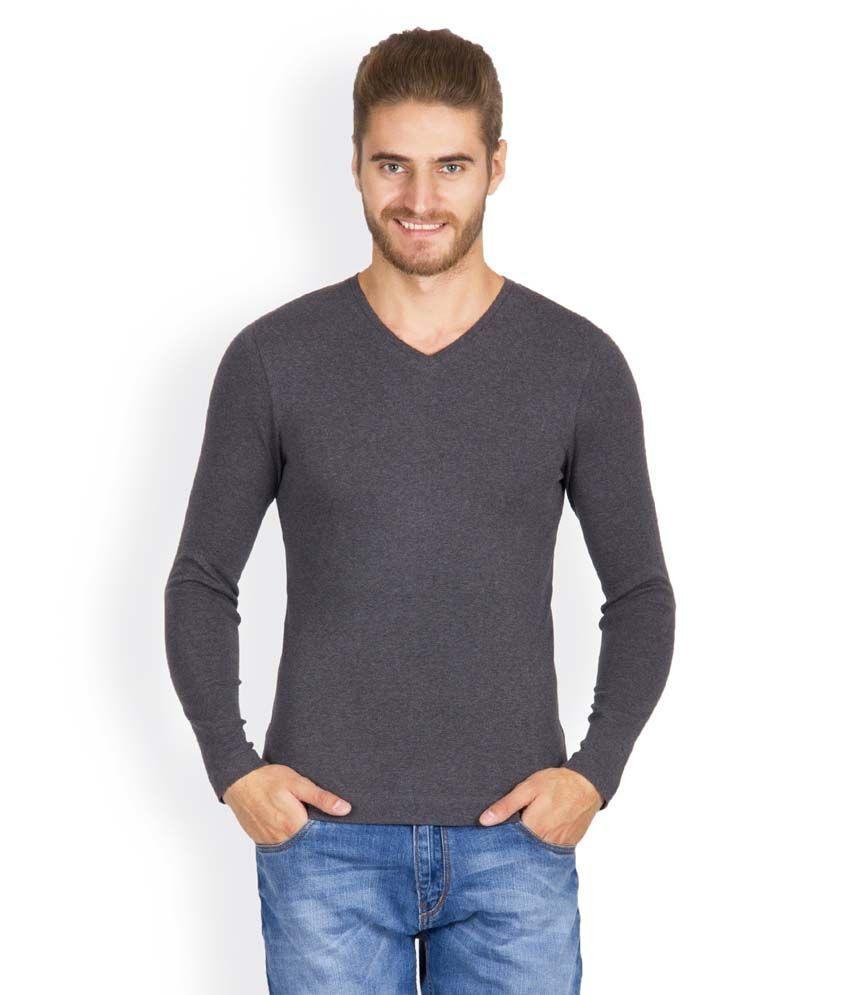 Hues 5002 N Stylish Gray Men T Shirt