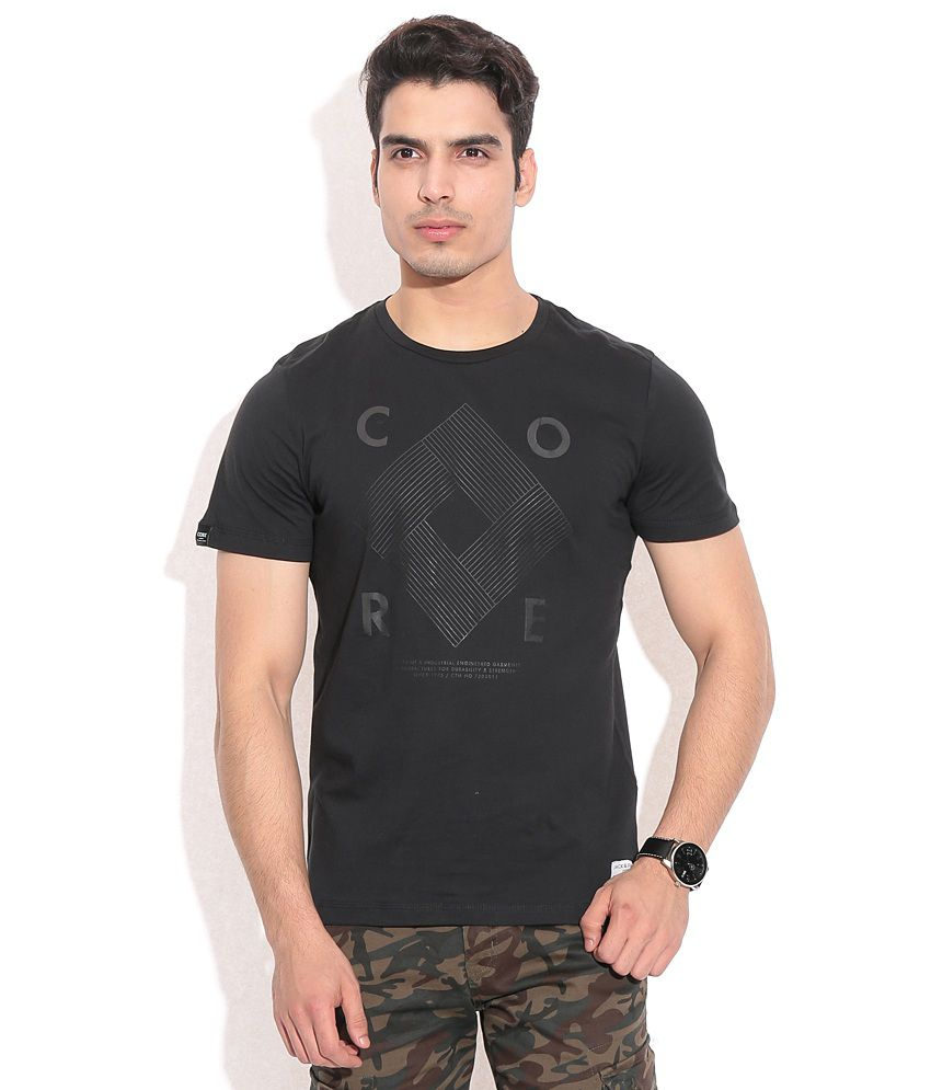 Jack & Jones Black  T-Shirt